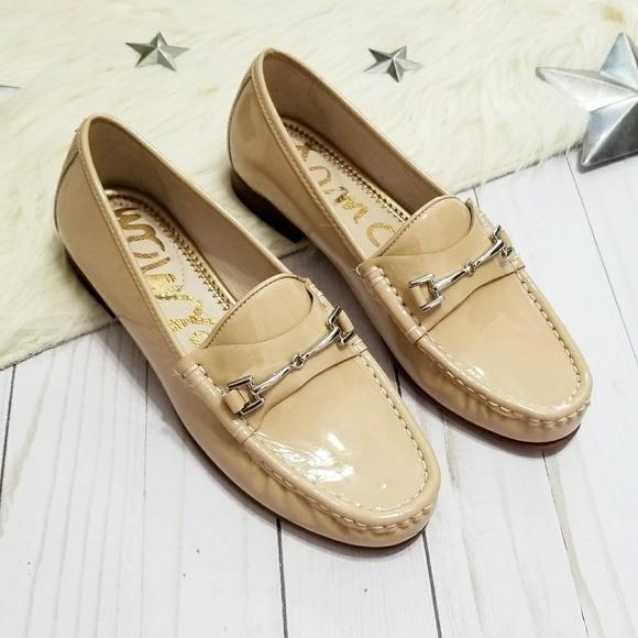 e2a1f1dc23d Sam Edelman Talia horsebit loafers patent nude New.  M 5a808a953b1608adcd2f1acd